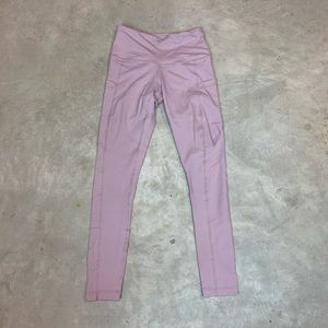 90 Degree High Waist Pink Yoga Legging Side Pocket